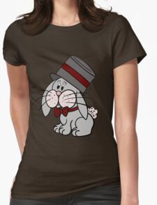 Magician Rabbit Womens Fitted T-Shirt