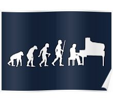 Funny Piano Evolution T Shirt Poster