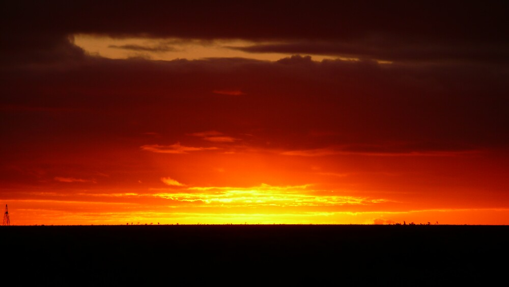 Sunset at Nulabor Roadhouse by mystery