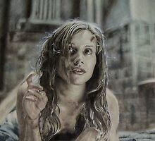 Airbrush Portrait - Brittany Murphy by Janne Flinck