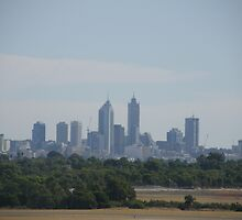 Perth Skyline Viewed From Perth International Airport.  by m004