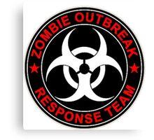 Zombie Response Team Bio Hazard Canvas Print