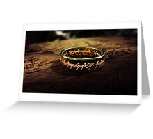 The Lord of the Rings - Sauron's Ring Greeting Card