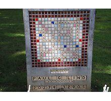 Crossword Headstone Photographic Print