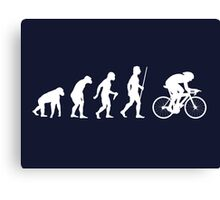 Funny Cycling Evolution T Shirt Canvas Print