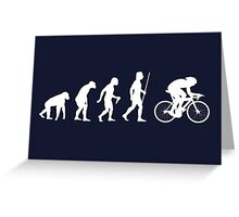 Funny Cycling Evolution T Shirt Greeting Card