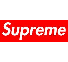 White Supreme Small Box Media Cases, Pillows, and More. Photographic Print