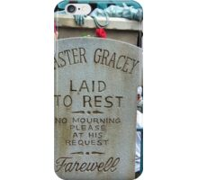 Master Gracey's Tomb - Haunted Mansion, Magic Kingdom iPhone Case/Skin
