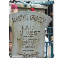 Master Gracey's Tomb - Haunted Mansion, Magic Kingdom iPad Case/Skin
