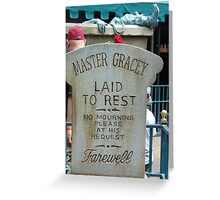 Master Gracey's Tomb - Haunted Mansion, Magic Kingdom Greeting Card