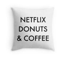 Netflix Donuts & Coffee Throw Pillow