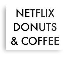 Netflix Donuts & Coffee Metal Print