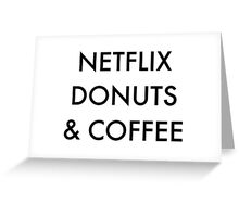 Netflix Donuts & Coffee Greeting Card