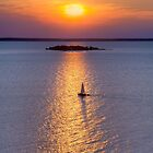 Sailboat on Green Bay by Kenneth Keifer