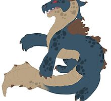 Lagiacrus Sticker by lucifersroomate