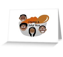Chicken & Jollof Rice show logo Greeting Card