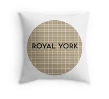 ROYAL YORK Subway Station Throw Pillow