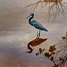 Blue Heron in the Marsh by Bill Wetmore