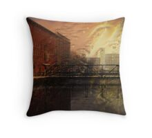 Pawtucket Canal At Central Street Throw Pillow
