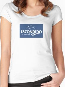 Flag of Escondido  Women's Fitted Scoop T-Shirt