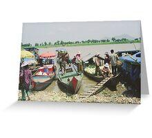 Market Boats Greeting Card
