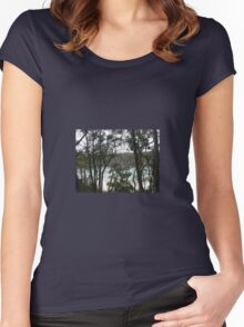 LOOKING THROUGH THE TREES Women's Fitted Scoop T-Shirt