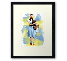 Dorothy Gale watercolors Framed Print