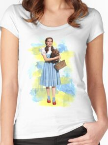 Dorothy Gale watercolors Women's Fitted Scoop T-Shirt