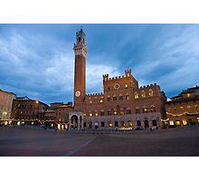 Tramonto, Il Campo, Siena  Photographic Print