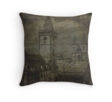 Faded Memories-Prague Throw Pillow