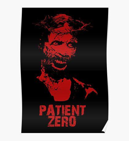 Patient Zero - Zombie Jesus - Red Poster