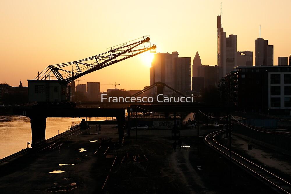 Frankfurt at dawn by Francesco Carucci