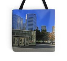 My City Montreal Quebec Canada (Place Victoria) Tote Bag