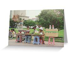Vendors Phnom Penh Riverside Greeting Card