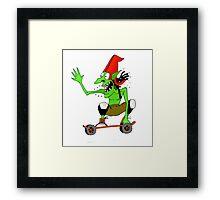 Dread goblin skater Framed Print