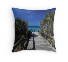 view from the boardwalk Throw Pillow