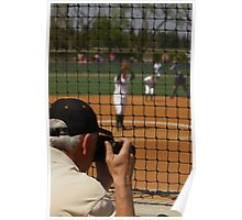 Photographer Captures the Action at a Softball Game Poster