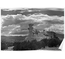 Hoodoo Island, near Chimayo, New Mexico Poster