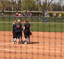 Softball - Team Meeting  Before the Start of an Inning by Buckwhite