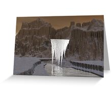 Shadow Cascades at 11am Greeting Card