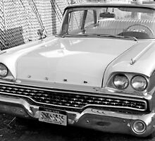 1959 Ford Fairlane-b&w by henuly1