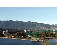 Lions Gate view from Stanley prk Photographic Print