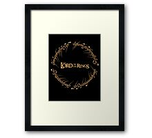 The Ring Script Framed Print