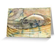 bird abstract Greeting Card