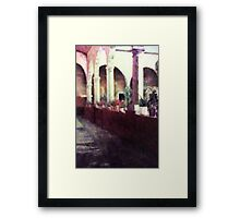 Arches and Columns Painting Framed Print