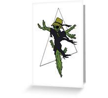 Cactus Scarecrow 2 Greeting Card