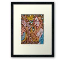 Nimue and Merlin Framed Print