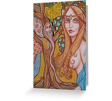 Nimue and Merlin Greeting Card