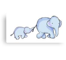 two elephants Canvas Print