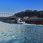 Kanawha River Traffic by Jason Vickers